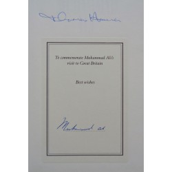 Muhammad Ali Hauser authentic signed genuine autograph signature book COA