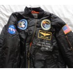 Gerald Jerry Carr Skylab authentic signed Genuine signature flight jacket