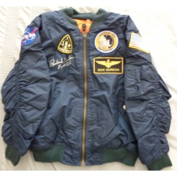 Richard Dick Gordon Apollo 12 authentic signed Genuine signature flight jacket