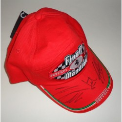 Michael Schumacher Todd Massa F1 Ferrari authentic genuine signed cap COA UACC