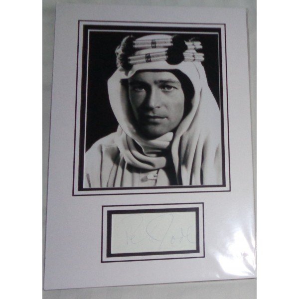 Peter O'Toole Lawrence of Arabia genuine signed authentic autograph photo display