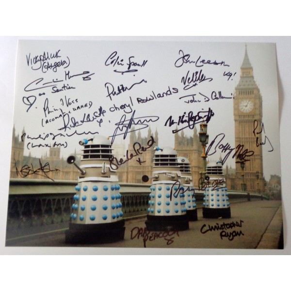 Doctor Who multi signed authentic signature autograph photo COA RACC