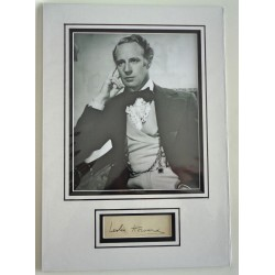 Leslie Howard GWTW signed authentic autograph photo display COA RACC