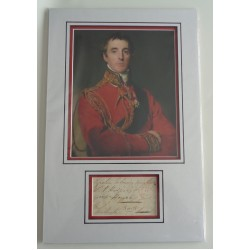 Duke of Wellington Waterloo genuine authentic autograph signature and photo
