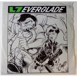 Donita Sparks L7 Everglade authentic signed autograph vinyl COA UACC