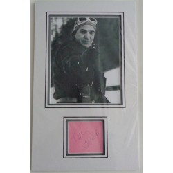 Telly Savalas James Bond authentic signed autograph page display COA UACC