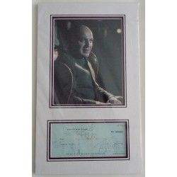 Telly Savalas James Bond authentic signed autograph cheque display COA UACC