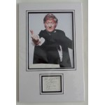 Jon Pertwee Doctor Who signed authentic genuine signature autograph display
