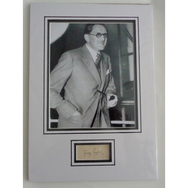 George Eyston Speed records authentic signed autograph page display COA UACC