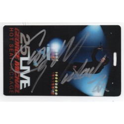 George Michael Wham signed authentic genuine autograph pass COA UACC AFTAL