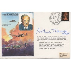 Arthur Harris Bomber WW2  signed authentic genuine cover COA UACC AFTAL