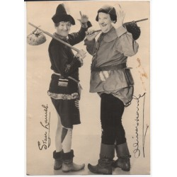 Stan Laurel Oliver Hardy comedy signed authentic genuine photo COA UACC