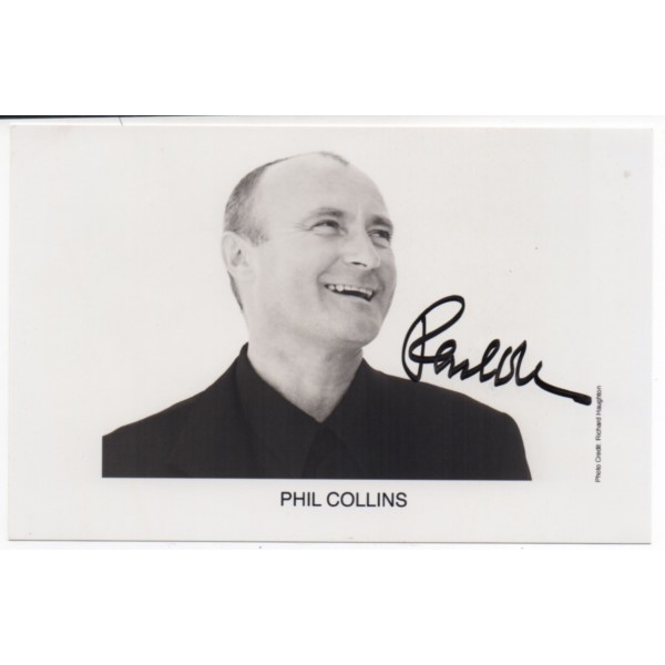 Phil Collins Genesis authentic signed genuine autograph signature photo COA