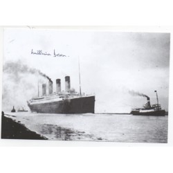 RMS Titanic authentic signed genuine autograph photo by Survivor Millvina Dean
