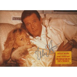 Mary Stavin James Bond genuine authentic signed autograph photo COA