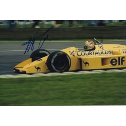 Nelson Piquet F1 Lotus Honda signature genuine signed authentic photograph