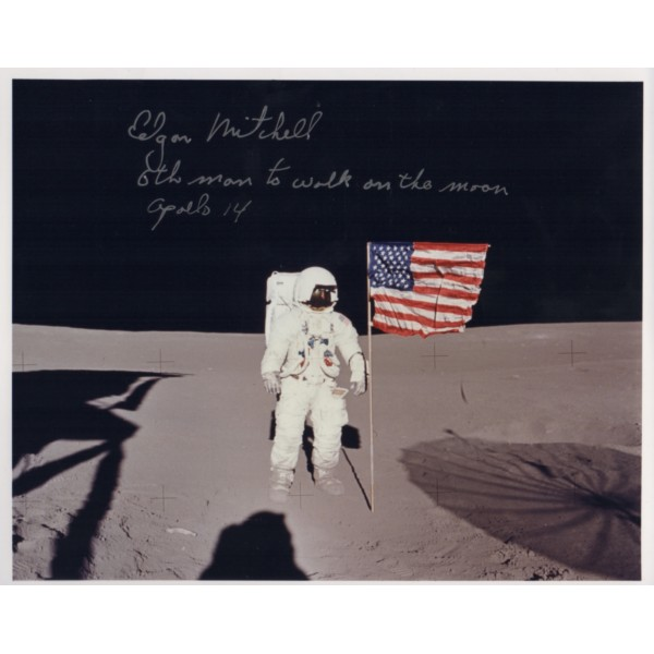 Edgar Mitchell Apollo 14 authentic genuine signed photo