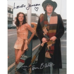 Doctor Who Tom Baker Louise Jameson genuine signed authentic autograph photo