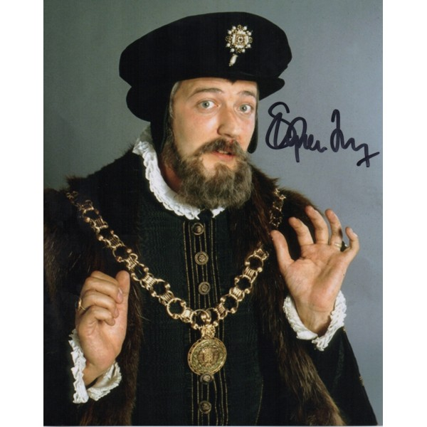 Stephen Fry Blackadder genuine authentic autograph signed photo AFTAL