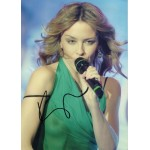 Kylie Minogue music signed authentic autograph sexy photo COA UACC AFTAL