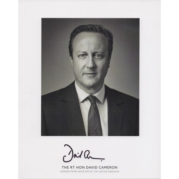 David Cameron PM politics genuine signed authentic autograph photo