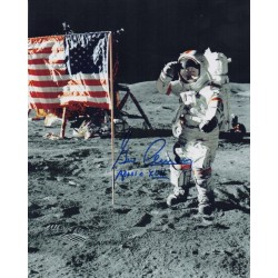 Gene Cernan Apollo 17 genuine authentic autograph signed photo.