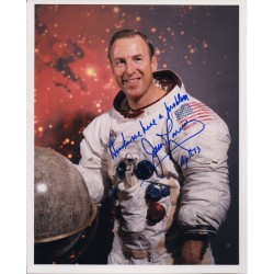 APOLLO 13 Jim James Lovell space signed authentic autograph photo