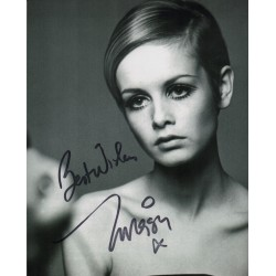 Twiggy Leslie Hornby signed authentic autograph photo 2