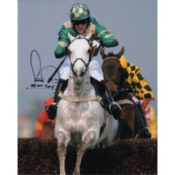 A P McCoy Jockey genuine signed authentic signature photo COA AFTAL