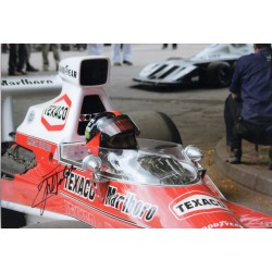 Emerson Fittipaldi McLaren F1 genuine signed authentic autograph photo