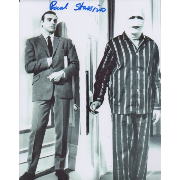 Paul Stassino James Bond signed authentic genuine signature photo UACC AFTAL