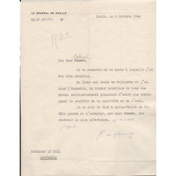 Charles De Gaulle signed authentic genuine signature letter COA UACC AFTAL
