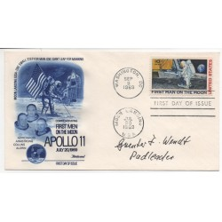 Guenter Wendt Von Braun genuine authentic autograph signed FDC