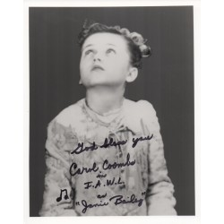 Carol Coombs Wonderfull Life signed authentic genuine autograph photo