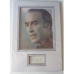 Christopher Lee Horror signed authentic genuine signature autograph display