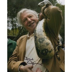 David Attenborough snake genuine signed authentic signature photo