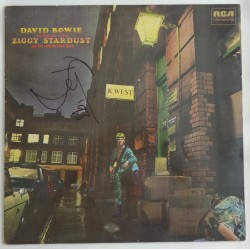 "David Bowie authentic genuine signature signed 12"" Vinyl Ziggy Stardust COA"