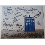Doctor Who multi signed authentic signature autograph photo 2 COA RACC