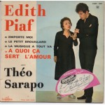 Edith Piaf signed authentic genuine signature vinyl record COA UACC AFTAL