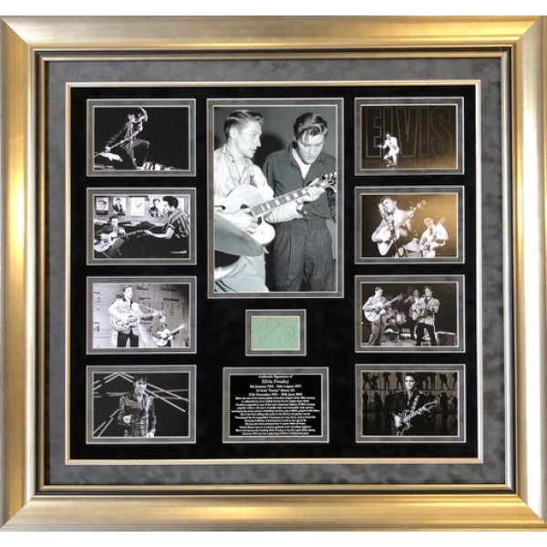 Elvis Presley Scotty Moore signed authentic genuine autograph photo COA UACC
