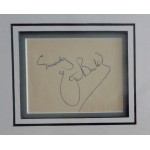 Eric Barker Carry On authentic signed autograph page display COA UACC