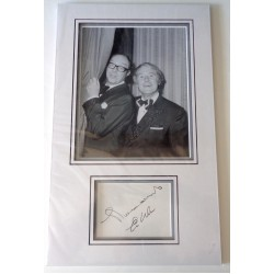 Eric Morecambe Ernie Wise signed authentic genuine signature autograph display COA