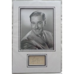 Errol Flynn genuine authentic autograph signature photo display