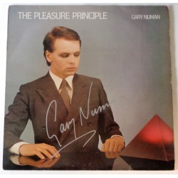 Gary Numan Pleasure Principle authentic signed autograph album COA