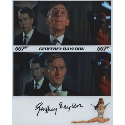 Geoffrey Bayldon James Bond genuine signed authentic signature promo photo COA
