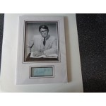 Gregory Peck film signed genuine signature autograph display