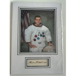 Harrison Schmitt Apollo signed genuine signature autograph display COA UACC