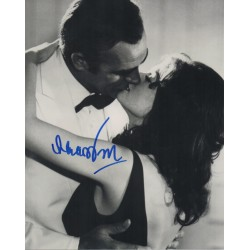 James Bond Lana Wood Connery signed authentic autograph photo