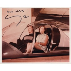 Jenny Agutter Michael York Logans Run signed authentic genuine signature photo