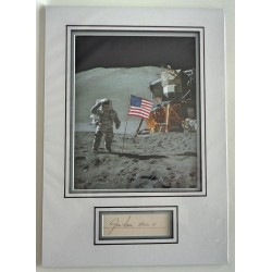 Jim James Irwin Apollo signed genuine signature autograph display COA RACC